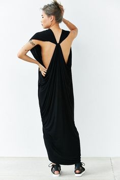 """Silence + Noise Zaya Knotted Dress,BLACK,S"" from Urban Outfitters on Catalog Spree"