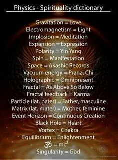 Fundamental aspects of reality as perceived in spiritual concepts. Notice they alignment with scientific research later developed.