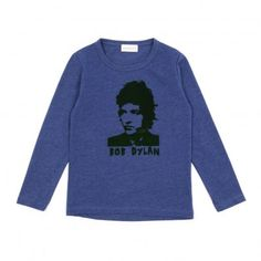 T-shirt Bob Dylan - Bleu chiné Simple Kids
