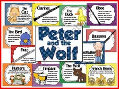 Good idea for a music lesson?!  Peter and the Wolf Bulletin Board from The Bulletin Board Lady