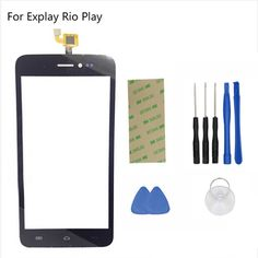 Touch Screen Per Explay Rio Giocare 5.0 ''Touch screen Digitizer Pannello frontale di vetro Finestra Parti di Ricambio + Tape Tools