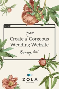 Set the tone for your big day with one of our free website designs. Then personalize your favorite one with photos, stories, and all of your wedding details. Wedding Tips, Wedding Details, Fall Wedding, Diy Wedding, Rustic Wedding, Wedding Flowers, Dream Wedding, Wedding Venues, Wedding Stuff