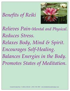 Benefits of #Reiki - I will definitely use that one in my promotion of Reiki in Poland.