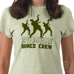 "This ladies' regular petite tshirt, justly identified as ""zombie dance crew t-shirt shirt"", makes a really awesome new addition to the typical person's closet for many reasons. Featured in the zombie tee shirt, acorn tee shirt, dance tee shirt, and crew tee shirt sections of the site, this design was dreamed up by jamierushad and is matched excellently on a lime classic petite tshirt that will go wonderfully well with lots of outfits. Zazzle has a big collection of marvelous tees like this…"