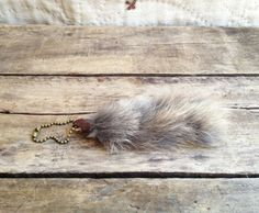 vintage c. 1970s lucky rabbit fur keychain by MouseTrapVintage, $12.00