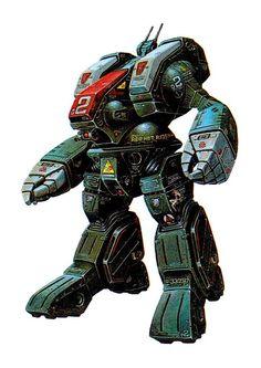 Macross, Destroid Spartan, by takani yoshiyuki Robotech
