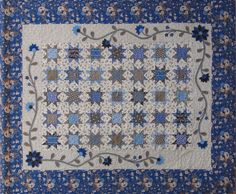 "Nottingham Stars--by The Woolen Needle--50"" X 61""  Features wool applique border   Pattern - $8.00"