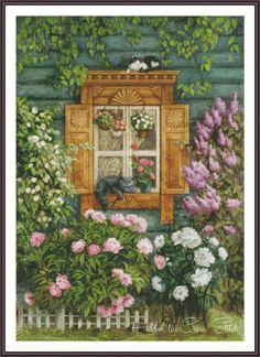 Cross Stitch Garden  Cross Stitch Cat  Cross by Addict2CrossStitch