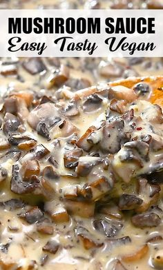 This Vegan Mushroom Sauce is healthy, easy, and absolutely delicious. With mouthwatering, savory flavors, you'll love adding it to all your favorite dishes. FOLLOW Eat Something Vegan, so you won't miss my new pins! If you cook any of my recipes, SHARE your photos with me, I ALWAYS check! #vegan #vegetarian #plantbased #healthyrecipe #mushrooms #keto #lowcarb #thanksgiving Healthy Recipe Videos, Keto Recipes, Cooking Recipes, Vegetarian Mushroom Recipes, Vegan Vegetarian, Vegetarian Recipes With Mushrooms, Easy Mushroom Recipes, Mushrooms Recipes, Buzzfeed Tasty