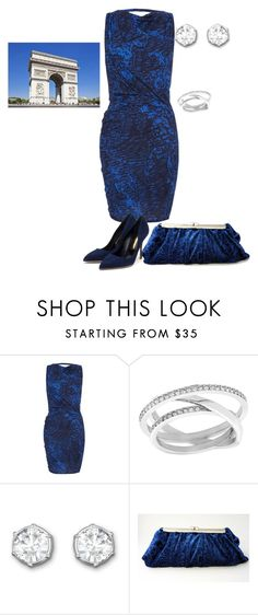 """""""Blue dress in Paris"""" by andrea-barbara-raemy on Polyvore featuring Mode, Helmut Lang, Swarovski, Rupert Sanderson und Lonely Planet"""