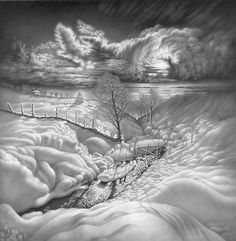 Guram Dolenjashvili  From series «Moonlit nights of Imeretia» Sheet 4. Variant 2. Pencil.