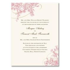 Love pink or spring? Try our cherry blossom themed wedding ideas. Find this invitation at CreativeWedding.com
