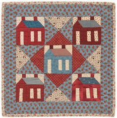 Little Red Schoolhouse quilt by Kathleen Tracy