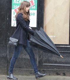 Dakota Johnson and Jamie Dornan huddle up for Fifty Shades Darker