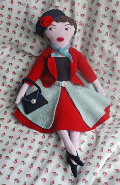 Lucienne Day doll by Jilly Lovett, via Flickr