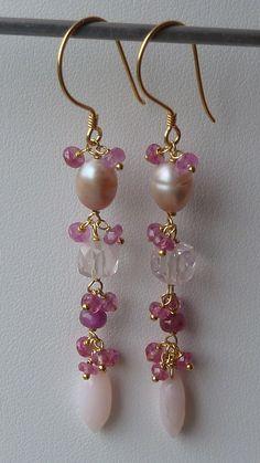 pink:sapphires,qtz,tourmaline and opaz
