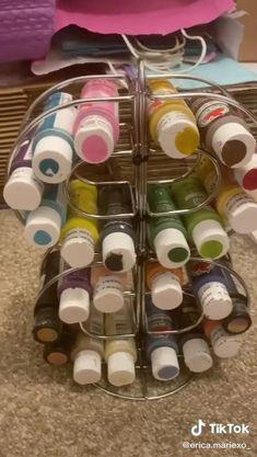 Diy Crafts Hacks, Diy Home Crafts, Jar Crafts, Crafts To Do, Creative Crafts, Dollar Tree Decor, Dollar Tree Crafts, Astuces Dollar Store, Craft Organization