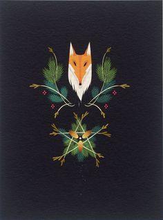 Solstice Fox by Krista Huot