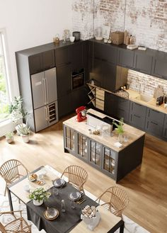 Open kitchen to the living room or dining room: 20 examples of copying . - Open kitchen to living room or dining room: 20 examples for copying room # - Open Kitchen And Living Room, Open Plan Kitchen, Home Decor Kitchen, Interior Design Kitchen, Kitchen Furniture, Home Kitchens, Dining Room, Decorating Kitchen, Kitchen Ideas