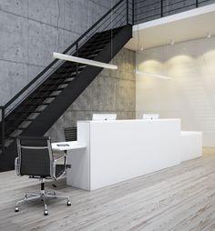 office reception by Matas Maciulis , via Behance