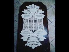 Video 3 of 3 - Crochet Table Runner Crochet Santa, Love Crochet, Crochet Dolls, Filet Crochet, Crochet Stitches, Afghan Patterns, Crochet Patterns, Very Beautiful Flowers, Crochet Table Runner