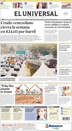 #20160220 #VENEZUELA #Caracas #ELUNIVERSALdiarioCARACAS Sábado 20 FEB 2016 http://en.kiosko.net/ve/2016-02-20/np/ve_universal.html