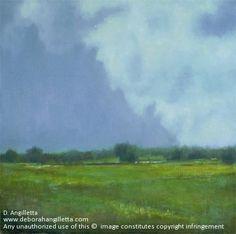 The Scent of Rain by Deborah Angilletta Oil ~ 20 x 20