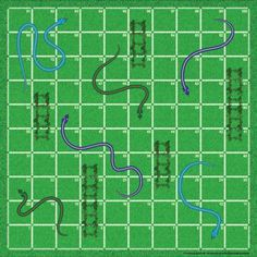 16 Free Printable Board Game Templates - Various - Blank Snakes and Ladders template. Blank Game Board, Board Game Template, Game Boards, Free Board Games, Printable Board Games, Free Printable, Gold Mining Games, Snakes And Ladders Template, School Games For Kids