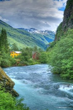 Take a self-guided walk when your cruise ship stops in Flam on a cruise through Norway's fjords.