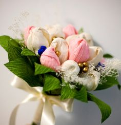 Paper Flower Bouquet Pastel Flowers Spring Wedding by FioriBelle
