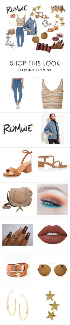 """Romwe jean jacket"" by kateisgreat45 ❤ liked on Polyvore featuring Wrangler, Alice + Olivia, Tod's, Manolo Blahnik, Chloé, Lime Crime, Leto, Givenchy, Lana and Olsen"