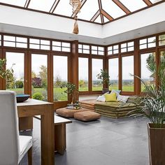 Spacious conservatory with slate flooring | Conservatory decorating | 25 Beautiful Homes | Housetohome.co.uk