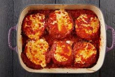 No Recipe Required Parm- Eggplant Parm / Photo by Chelsea Kyle, Food Styling by Anna Stockwell Best Italian Recipes, Great Recipes, Favorite Recipes, Entree Recipes, Cooking Recipes, Cooking Ideas, Vegetable Recipes, Chicken Recipes, Chicken Ideas