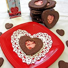 Can make them as cookies too! Mint Chocolate Chip Cookies, Cherry Cookies, Sugar Cookies, Valentines Sweets, Valentine Treats, Holiday Treats, Blossom Cookies, Chocolate Covered Cherries, Bark Recipe