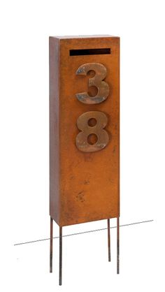 Custom Ned Kelly rust letterbox by www.entanglements.com.au