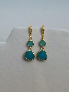 A personal favorite from my Etsy shop https://www.etsy.com/listing/246855030/aqua-chalcedony-dangle-earrings-with