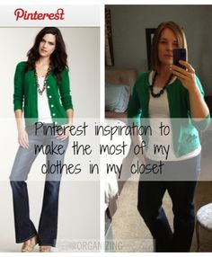 Use Pinterest to inspire the wardrobe you already have! Use what's in your closet!