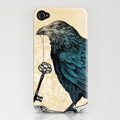 Creepy raven-key iphone case?