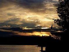 Spent many days watching the sun set on Long Lake, Maine