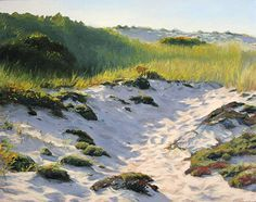 Morning Walk Through Dunes, Oil, 16x20 Debra Lee Valerie, Westbrook, Mass. Great beach paintings