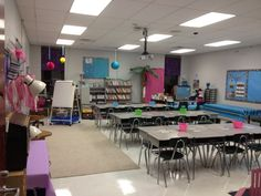 This classroom setup could be a good setup which you can use in a grownup setting too.