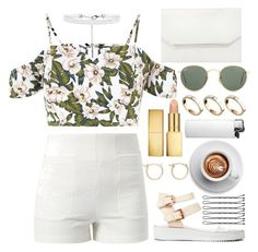 """""""☀️"""" by burcaak ❤ liked on Polyvore featuring Lost Society, Fashion Union, BCBGMAXAZRIA, Ray-Ban, AERIN, ASOS, J.Crew, StreetStyle, Summer and cute"""