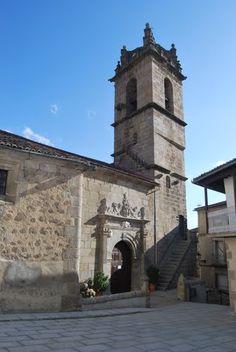 """Baños de Montemayor perteneció a dos diócesis, la de Coria y la de Plasencia. La división entre ambas era la Via de la Plata que la atraviesa de Sur a Norte. En el lado de Coria está la Iglesia de Santa María, en el lado """"placentino"""" está la iglesia de Santa Catalina que es el actual Auditorio Cultural de Baños. En la foto Santa María."""
