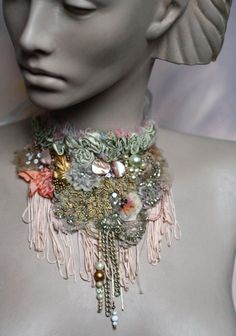Coral reef bold statement necklace from vintage by FleurBonheur