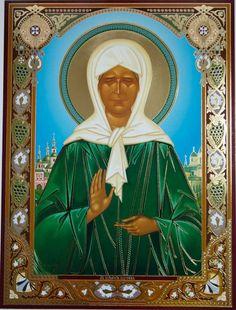 The Holy Matrona Icon Ikone Heilige Matrona Икона Святая Матрона Московская