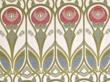 Brockhall Designs Renata Red Blue Jacquard Fabric   Curtains And Upholstery    The Millshop Online #