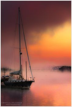 Sunrise on the Sailboat (somewhere in the US) by Paul Jolicoeur - 500px