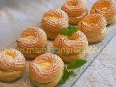 Věnečky se smetanovým krémem Doughnut, Muffin, Fruit, Breakfast, Food, Morning Coffee, Eten, Cupcakes, Muffins
