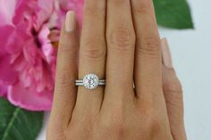 Hey, I found this really awesome Etsy listing at https://www.etsy.com/listing/213989777/15-ctw-classic-halo-ring-round-bridal