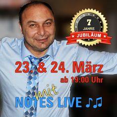 7 Jahre Athene Jubiläum. Genießen Sie köstlich Speis & Trank und #tanzen Sie mit uns durch die Nacht! Kosta Liaskos, Nikos Vagias und Theodoti Alexandrou bringen die schönsten Lieder Griechenlands, urige #Tavernenhits, #Rebetika und #Bouzouki-Klänge. Feiern Sie mit uns!  #Jubiläum #Geburtstag #NotesLive #TheodotiAlexandou #KostaLiaskos #NikosVagias #livemusik #griechischessen #griechischeküche #restaurant #griechischemusik #folklore #griechischerwein #griechisch #greek #food #wien #grinzing Folklore, Restaurant, Sports, Dance, Night, Birthday, Nice Asses, Hs Sports, Diner Restaurant